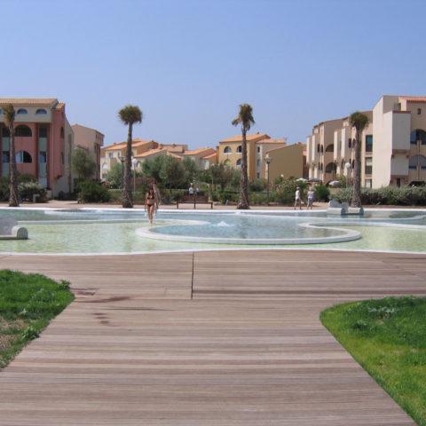Fontaines et bassin à Agde